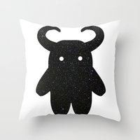 taurus Throw Pillows featuring Taurus by Leandra Lilly Dreyer