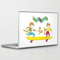 skate Laptop & iPad Skins featuring Skate Izaiah Skate by Matthias Leutwyler