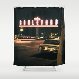 the boulevard Shower Curtain
