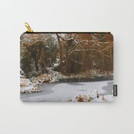 The Old Mill Stream in Winter Carry-All Pouch