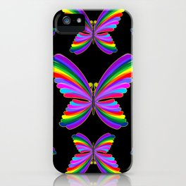 Butterfly Psychedelic Rainbow iPhone Case