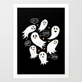 Friendly Ghosts Art Print