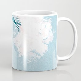 Surf X // Cali Beach Summer Surfing Rip Curl Gold Pink Aqua Abstract Ocean Wave Coffee Mug