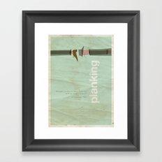 Planking - Meme Movie Posters Framed Art Print