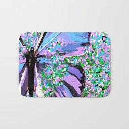 Butterfly Painterly Bath Mat