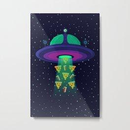 Alien Munchies Metal Print