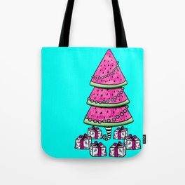 Aussie Christmas Card Set Pink & Aqua Design#3 Watermelon Tree Pressies Tote Bag