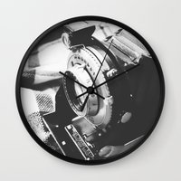 old school Wall Clocks featuring Old school  by Olivier P.