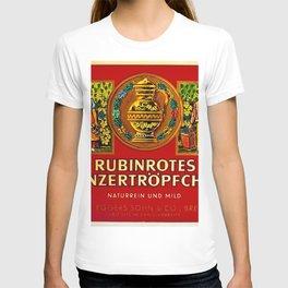 Vintage 1963 Wine Bottle Label Rubinrotes Winzertropfchen T-shirt