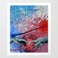 nico di angelo Art Prints featuring Angelo by Dakota Rose