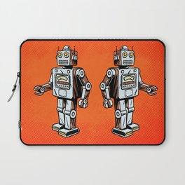 Retro Robot Toy Laptop Sleeve