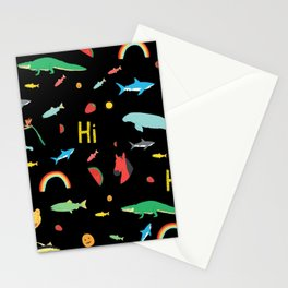 All Together Black Stationery Cards