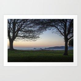 Dawn at Mumbles headland Art Print