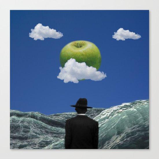 Apple Magritte Canvas Print