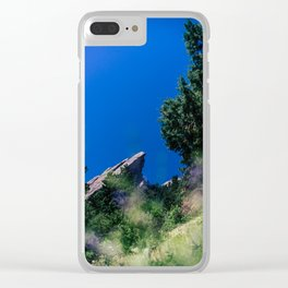 Boulder flatirons Clear iPhone Case