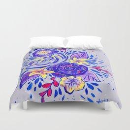 Purple florals Duvet Cover