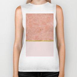 Ettore rosa on blush pink & gold Biker Tank