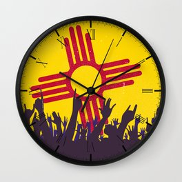 New Mexico State Flag with Audience Wall Clock