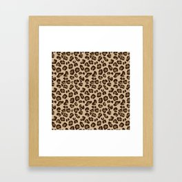 Leopard-Beige+Brown Framed Art Print