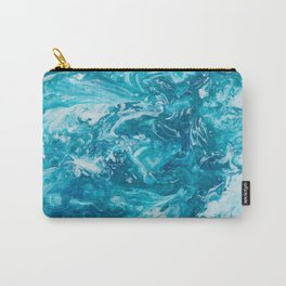 GALATHI Turquoise texture Carry-All Pouch