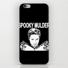 Spooky Mulder (black) iPhone Skin