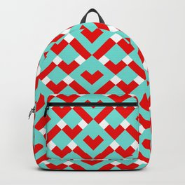 Graphic Hearts Pattern (Christmas Candy Color Palette) Backpack