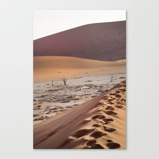 Leave only foortprints Canvas Print