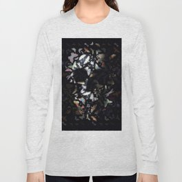 Butterfly And Skull Long Sleeve T-shirt