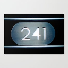 241 Cut Metal Sign Canvas Print