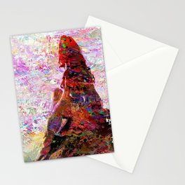 DayDreaming - Intense Multi-Color Vibrant Abstract Mixed Media Digital Painting Stationery Cards
