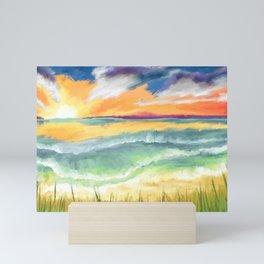cast to Sea Mini Art Print