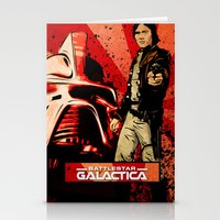 battlestar Stationery Cards featuring Battlestar Galactica by Storm Media