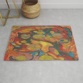 There's Order in Chaos: Marbleizing Rug
