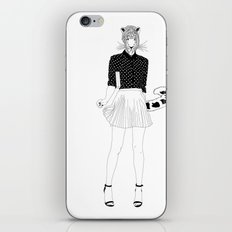 Miss Snow Leopard iPhone & iPod Skin