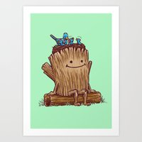 Good Day Log's Bird Nest Art Print