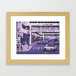 Dizengoff Center in the 90s Framed Art Print