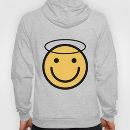 Smiley Face   Halo Holy Smiling Face Hoody