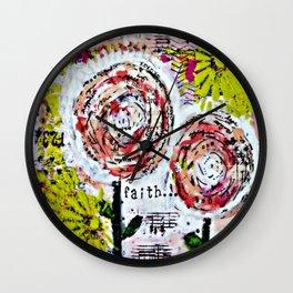 Mixed Media Art: Faith Wall Clock
