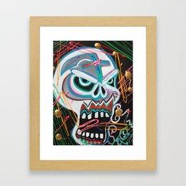 Carnie Skull Framed Art Print