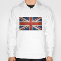 british flag Hoodies featuring UK British Union Jack flag retro style by Bruce Stanfield