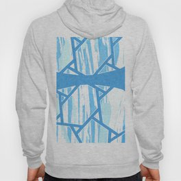 Abstract Blue Mosaic Design Hoody