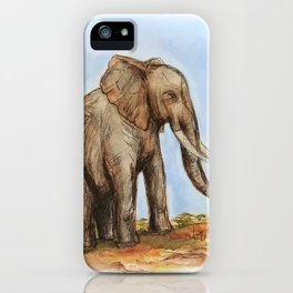 The Majestic African Elephant iPhone Case