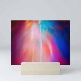 Abstract motion blur background. Mini Art Print