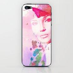 Brunette Watercolour Girl iPhone & iPod Skin