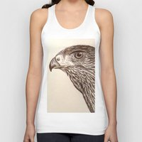hawk Tank Tops featuring Hawk by Leslie Creveling