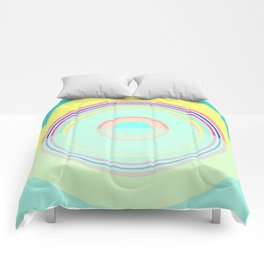 more turquoise and yellow Comforters