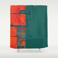 titan Shower Curtains featuring Titan - Cronos by Fernando Vieira