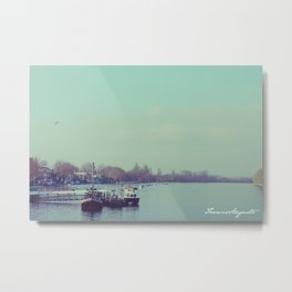 Upon Putney Bridge Metal Print
