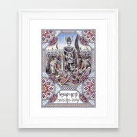gondor Framed Art Prints featuring Hyarmendacil I of Gondor by Matěj Čadil