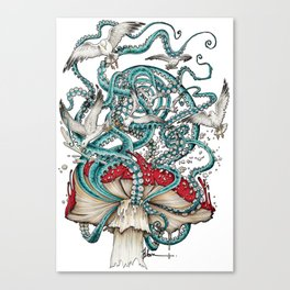 Flying the Agaric Canvas Print